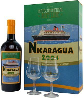 Transcontinental NICARAGUA 2004 zestaw z kieliszkami