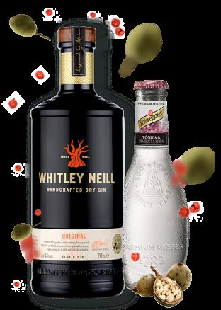 Zestaw Whitley Neill Original + 4x Tonic Schweppes Tonica Pimenta Rosa