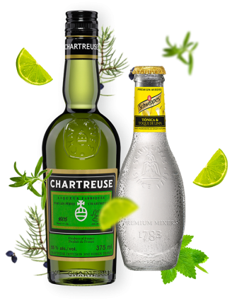 Zestaw Chartreuse Verte + 4x Tonic Schweppes Tonica & Toque de lima